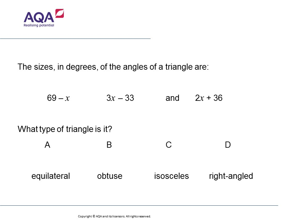 Angles and Algebra FoundationHigher GCSE Maths Question of the – Gcse Maths Angles Worksheets