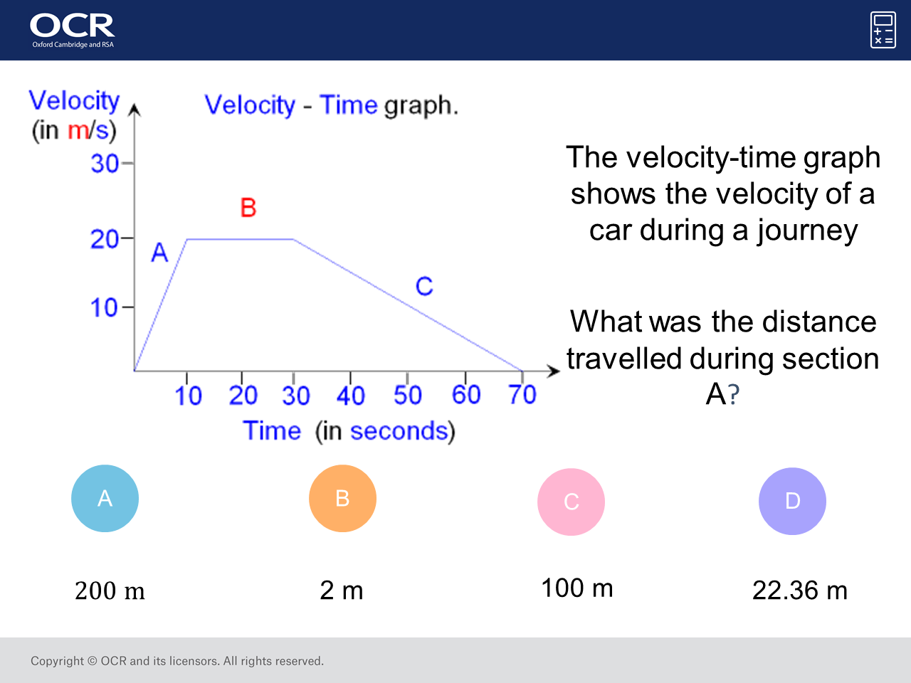 worksheet Distance Time Graph Worksheet distance from a veolcity time graph higher gcse maths question velocity